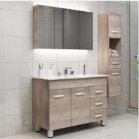 Smart bathroom cabinet combination set multi-storey solid wood floor bath cabinet wash cabinet wash