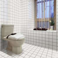 White simple whole porcelain tile ceramic mosaic kitchen wall brick bathroom tile black bathroom wal